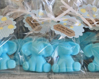 Baby Elephant Party Favor Soaps: Elephant Soap, Baby Shower, Baby Sprinkle, Baby Shower Favors, Birthday Favors