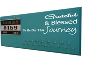 Running Medal Holder and Race Bib Hanger running medals race bib rack- Grateful and Blessed to be on this Journey - Gifts for runners