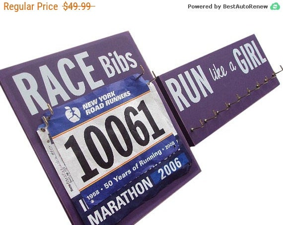 RUN like a GIRL: running medals and bibs display
