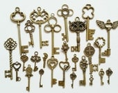 26 Bulk Mix Key Antiqued Bronze B1399(3-1)
