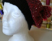 PDF Download Pattern for Easy Woven Slouchy Hat with Knitted Band