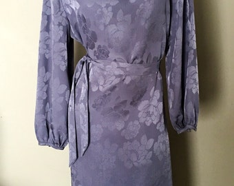 Lanvin purple floral midi dress
