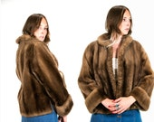 Vintage 1950's Marquise Fashioned by Toledo Furs Inc. Faux Fur Coat Women's Vegan High Fashion Hipster Size Medium Vtg VG Luxurious Feminine