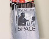 Upcycled Star Wars Novelty Wrap Skirt/Darth Vader/Princess Leia/Eco Art Clothing