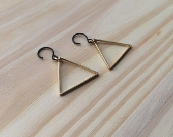 MADE TO ORDER : Triangle Drop earring