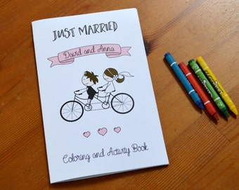personalized kids wedding coloring book kids wedding favor kids activity book set of - Personalized Wedding Coloring Book