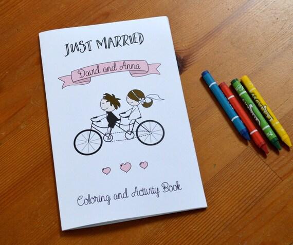 Personalized Kids Wedding Coloring Book Kids Wedding Favor