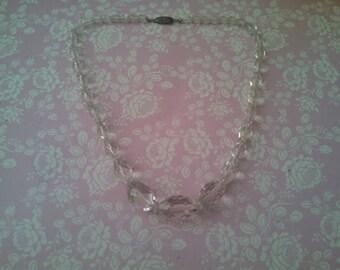 Vintage Rock Crystal & Sterling Silver Necklace