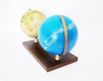 Vintage Terrestrial and Celestial Globe Pair - Cold War Era - Replogle