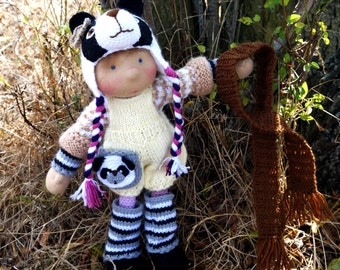 """Waldorf knitted doll Petra 14"""""""
