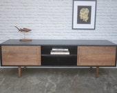 "IN STOCK! Kasse Credenza / Media Console 72"" - Ebony/Walnut - reserved for Trish"