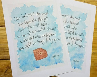 She Believed... Biscuits! - Signed print