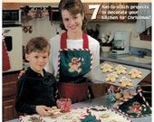 Quiling Gingerbread Kitchen Set Christmas holiday potholders,apron, towels, runners