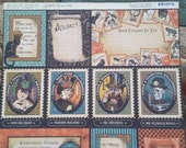 "Graphic 45 steampunk Spells ""Frightful Folly"" 12 x 12 scrapbook paper, single sheet,  double sided"