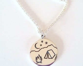 Camping Necklace - Gift For Teenager - Explore Necklace - Camping - Adventure Gift - Gift for Outdoors - Tent