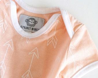 Arrow Baby Onesie - peach