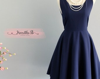 Party Angel Dress Navy Backless Party Dress Navy Backless Dress Navy Prom Party Wedding Dress Navy Cocktail Bridesmaid Dresses XS-XL