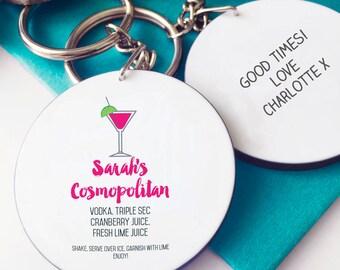 Cosmopolitan Cocktail Keyring