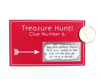 Treasure Hunt Scratch Card Game Personalised