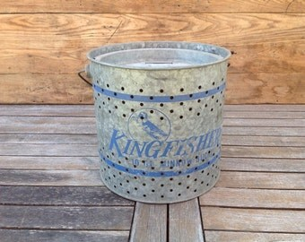 Vintage King Fisher Pail