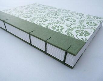 Journal, notebook, florentine, rossi, coptic, cloth, floral