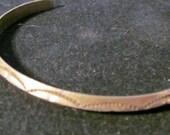 Reserved for Shannon   Vintage Single Bangle Native American Bracelet Sterling Silver