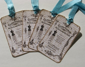 Articles de Paris French Hang Tags Set of 4