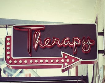 Industrial Home Decor, Therapy Sign, Fun Urban Wall Art Photography