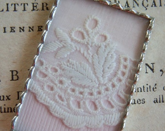 Fiona & The Fig - Double Sided - 1920's Era Baby - Antique Lace-Soldered Necklace Pendant Charm