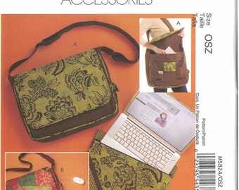 Lap Top Bag Sewing Pattern, Computer Bag Pattern, McCall's M5824, Tech Bag Sewing Pattern