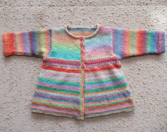 multicolor wool jacket for a toddlers size 86