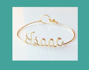 Name Bracelet. Personalise Bracelet.  wire word bracelet. wire name bracelet.