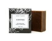 C O F F E E - Cinnamon, Clove Bud & Sweet Orange Scented, Freshly Brewed Coffee, Scrub Soap, 100% Natural