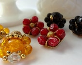 Cluster Earrings / Vintage Crafting Pieces / Brooch Bouquet Filler / Altered Art or Assemblage Pieces / Crafting Jewelry / Cluster Clips