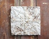 Rusty Vintage Tin Ceiling Square Tile Wall Hanging