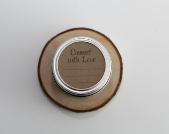 Canned with Love Mason Jar Canning Label Tags Set of 8