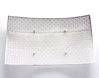 Mid Century Mesh Tray. Hollywood Regency Modernist Large Metal Tray/Plater