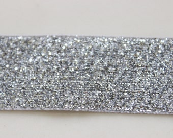 "2 Rolls Silver Metallic Ribbon 1"" Wide 8 Feet Long / Weddings / Sewing / Crafts"