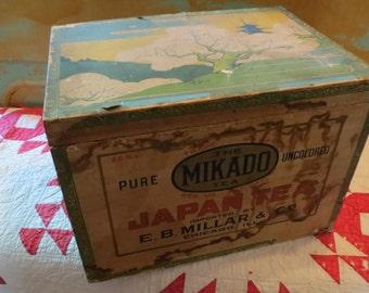 Vintage Wooden Tea Box.