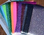 12x8 Sheet Glitter Heat Transfer Vinyl Iron On T-Shirt Wedding DIY
