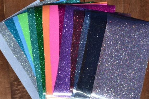 12x7 Sheet Glitter Heat Transfer Vinyl Iron On T Shirt Wedding