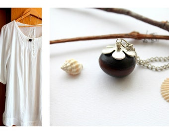 Necklace PAROTA seed / natural / minimalist / brown