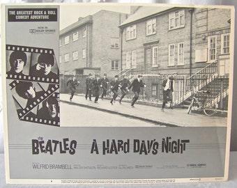 Vintage Beatles Movie Poster A Hard Day's Night Beatles Memorabilia Universal Studios Release 1982 John Paul George Ringo