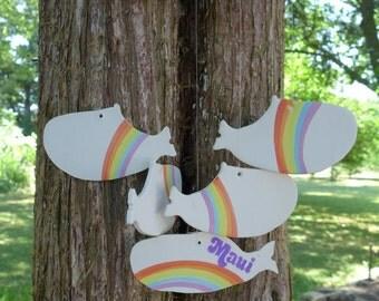 Vintage Rainbow / Cloud / Whales / Ceramic / Maui Wind Chimes