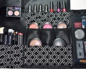 Roll & Tie Makeup and Brush Organizer Travel Roll Bag Case