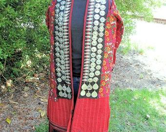 Vintage Turkoman, Turkmen Coat, Cape, Cloak, Mantle from Central Asia