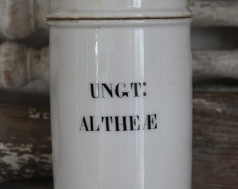 SALE-----French ironstone apothecary jar