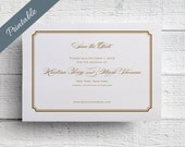 Gold Save the Date Printable