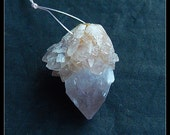 Drusy Amethyst Gemstone Pendant Bead,35x29x27mm,22.2g