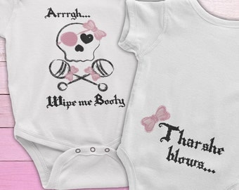 Baby girl pirate, Wipe Me Booty Onesie, Pirate Baby, Pirate Onesie,  Funny baby onesie, Baby Pirate Onesie, Pirate baby onesie